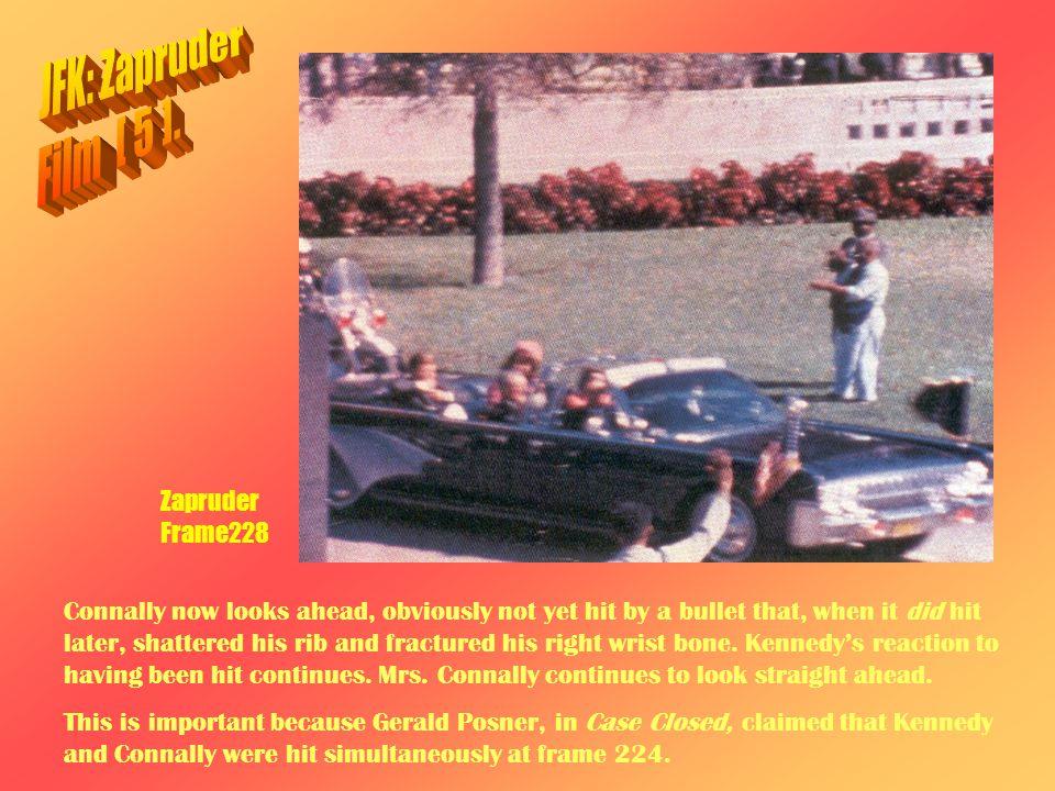 JFK: Zapruder Film [ 5 ]. Zapruder Frame228